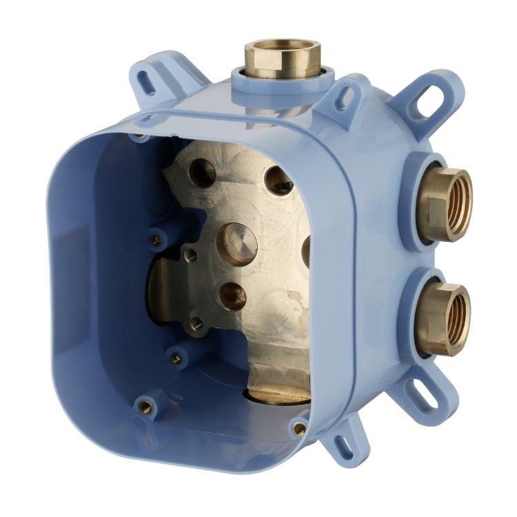 CENTRUM змішувач для ванни, термостат, прихований монтаж (3 споживача) - 3