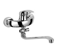 BARON змішувач для ванни одноважільний, S-вилив 350 мм, хром 40мм