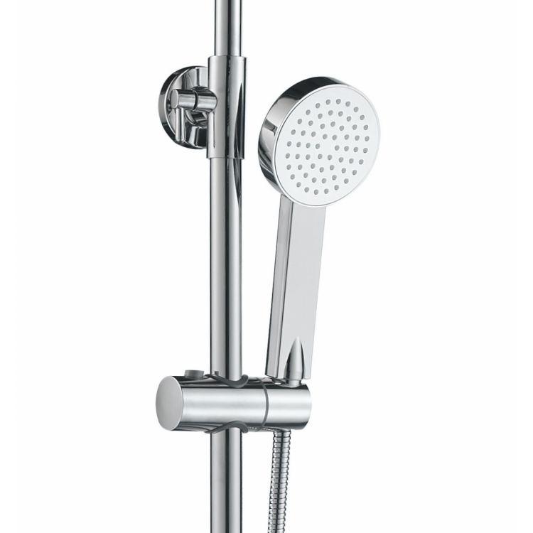 TULIP система душевая (смеситель для ванны, верхний и ручной душ) - 5