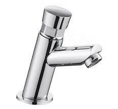 PUSH кран для холодної води, натискної, хром
