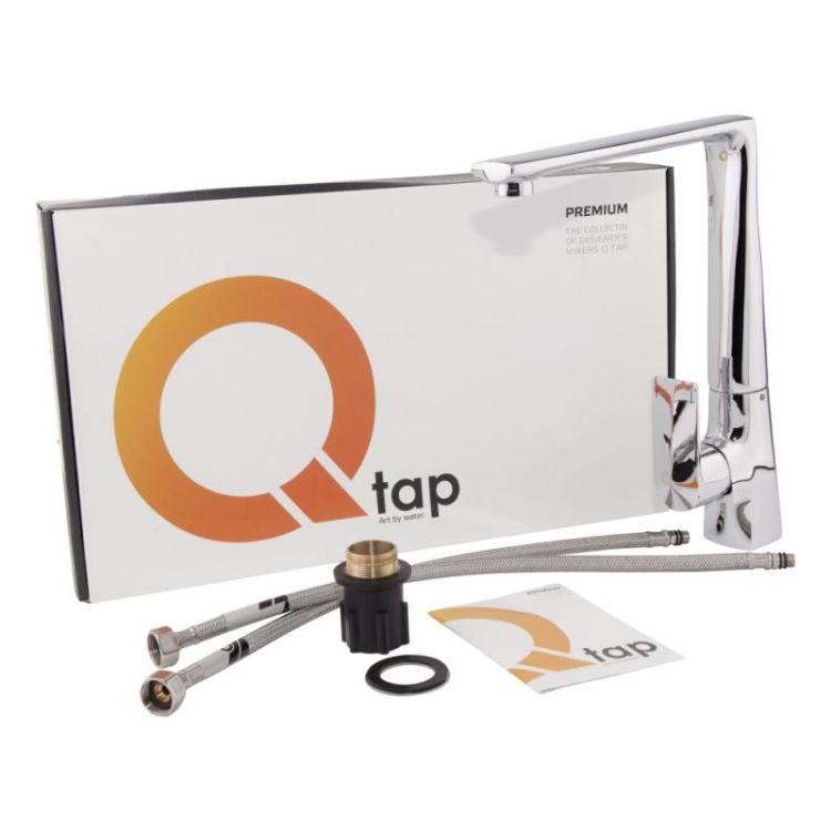 Змішувач для кухонного миття Q-tap Estet CRM 007F - 5