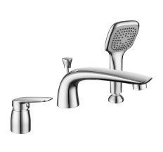 PRAHA new смеситель для ванны, врезной, на три отверстия,  хром, 35 мм