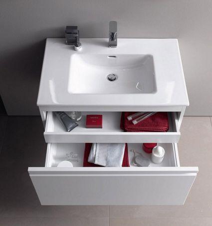 PRO S комплект тумба+умивальник 100*50см (8179670001041+4835310964641), колір білий глянець - 3