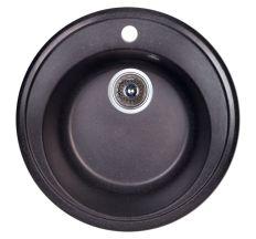 Мийка Fosto 510/510*180 колір SGA-420 чорний (без сифона)