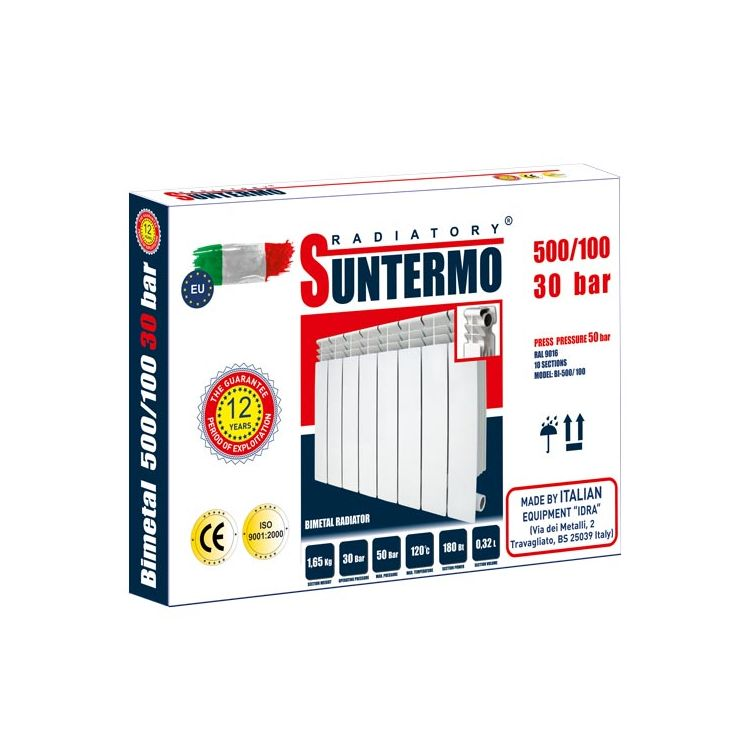 Секція біметалічного радіатора SUNTERMO 500/100 30 бар - 1