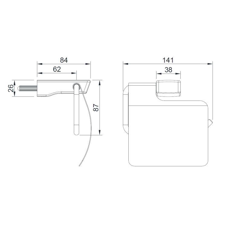GRAFIKY тримач для туалетного паперу - 2