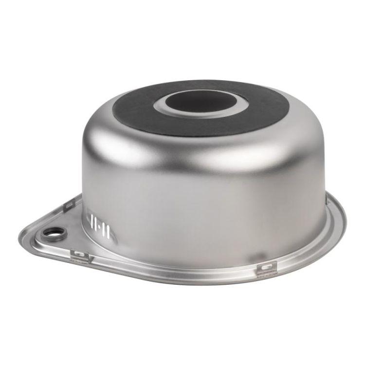 Кухонна мийка Lidz 4539 dekor 0,8 мм (LIDZ4539MDEC) - 5