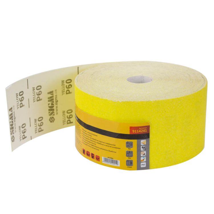 Шлифовальная бумага рулон 115ммх50м P60 Sigma (9114241) - 1