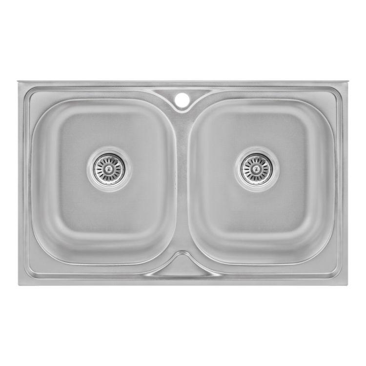 Кухонна мийка Lidz 5080 Decor 0,8 мм (LIDZ5080DEC08) - 1