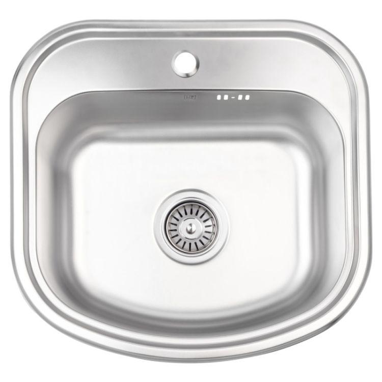 Кухонна мийка Lidz 4749 dekor 0,8 мм (LIDZ4749MICDEC) - 1