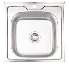 Кухонна мийка Lidz 5050 Satin 0,6 мм (LIDZ5050SAT06)