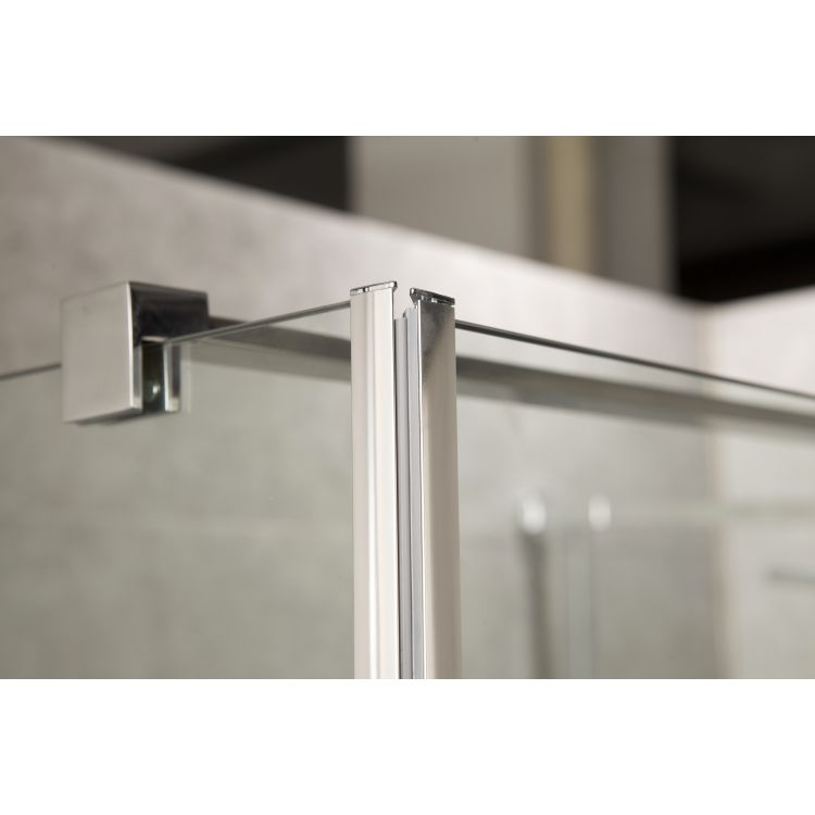 RUDAS душова кабіна квадратна 90*90*205 см, піддон (PUF) 5 см (з сифоном), орні, скло прозоре, права - 7