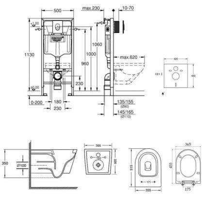 Набір інсталяція 4 в 1 Grohe Rapid SL 38722001 + унітаз з сидінням Qtap Swan QT16335178W - 2