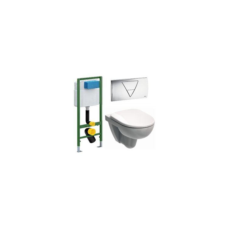 Комплект: IDOL унітаз підвісний, сидіння п/п, Viega Standart 3в1 673192 - 1
