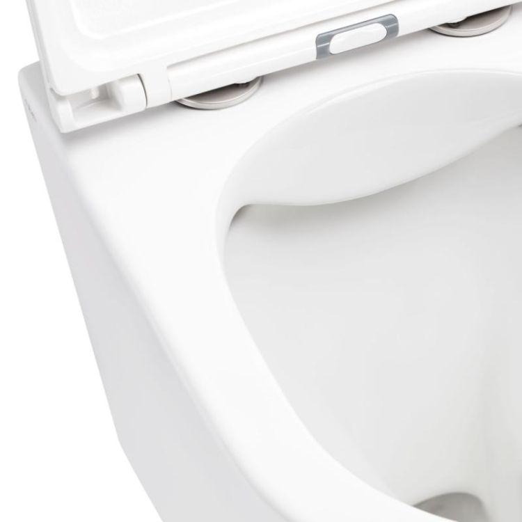 Унітаз підвісний Qtap Scorpio безободковый з сидінням Slim Soft-close QT1433053ERW - 4