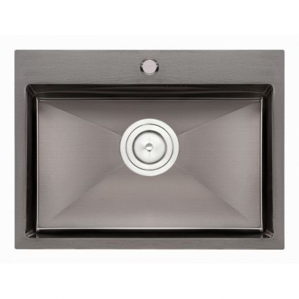 Кухонна мийка Qtap D5843BL 2.7/1.0 мм (QTD5843BLPVD10) - 1