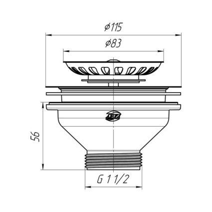 Випуск Ані М250 з нерж. сіткою 115мм(вихід 11/2) - 2