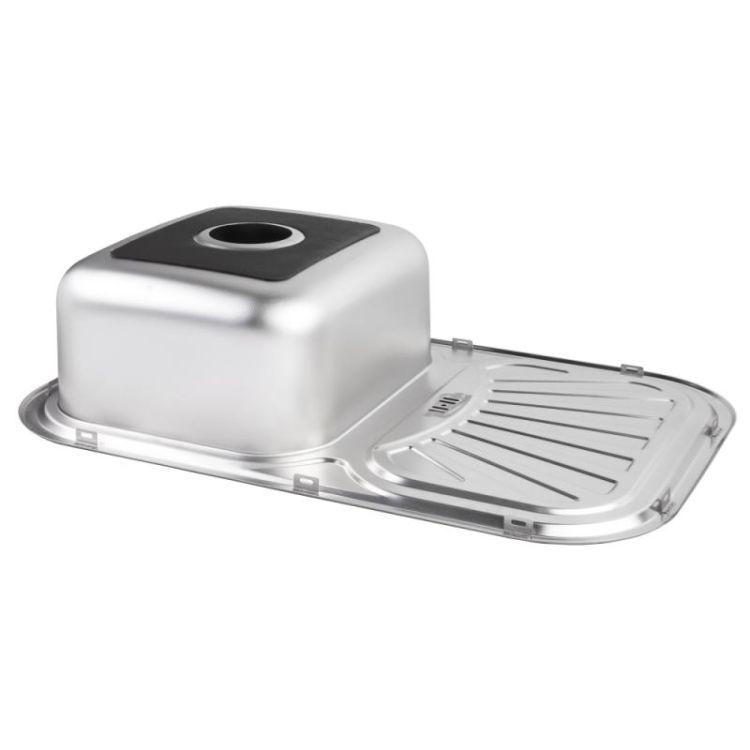 Кухонна мийка Lidz 7549 dekor 0,8 мм (LIDZ7549MICDEC) - 4