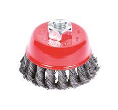 Щетка проволочная чашеобразная Ø75мм М14×2мм (стальная витая) Sigma (9026071)