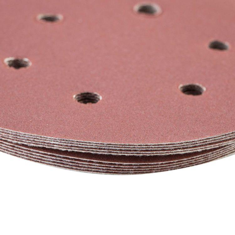 Шлифовальный круг 6 отверстий Ø150мм P180 (10шт) Sigma (9122291) - 4
