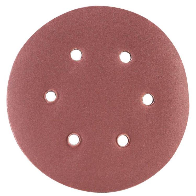 Шлифовальный круг 6 отверстий Ø150мм P180 (10шт) Sigma (9122291) - 1