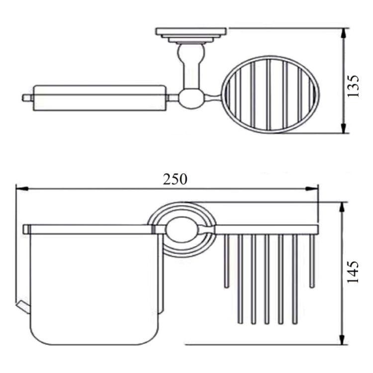Держатель для туалетной бумаги и освежителю с крышкой Potato P2903-1 - 2