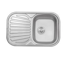 Кухонна мийка Qtap 7448 Satin 0,8 мм (QT7448SAT08)