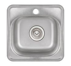 Кухонна мийка Lidz 3838 Satin 0,6 мм (LIDZ3838POL06)