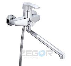 Z65-BBS7-A279 ZEGOR Смеситель для ванны длинный гусак, к.40