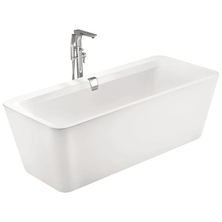 Ванна окремо стоїть 1800*800*620мм, акрилова, злив-перелив, біла - 1