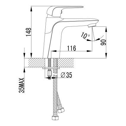 NOVA OPAVA змішувач для раковини, хром, 35 мм - 2