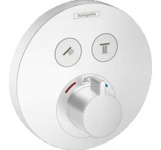 SHOWER SELECT S термостат для 2х потребителей, СМ, белый матовый