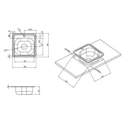 Мийка Imperial 3838 (0,6мм) Decor - 2