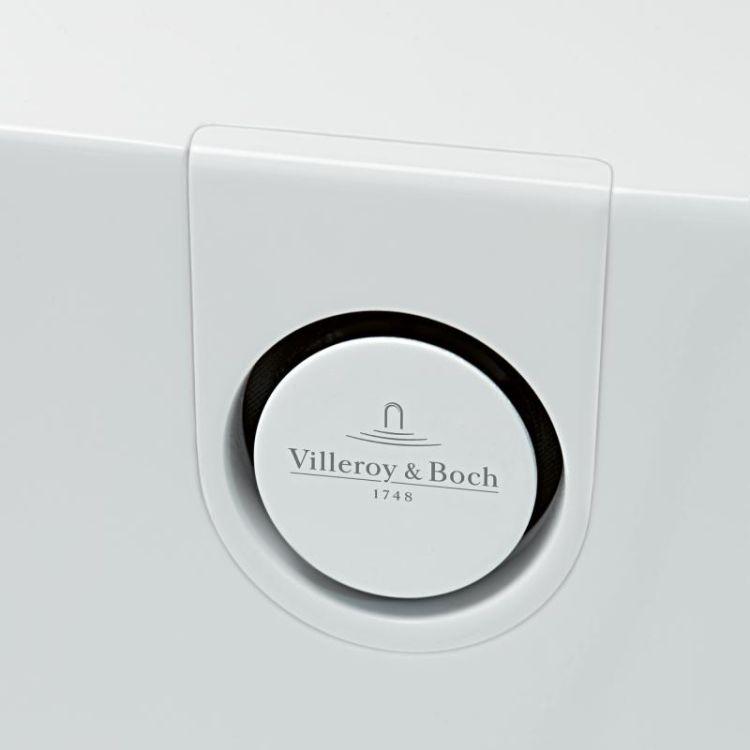 OBERON 2.0 Solo ванна 180*80см, квариловая з ніжками і зливом-переливанням - 6