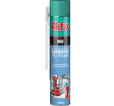 Клей-піна для полістиролу і пінопласту ручна Akfix 900 гр 960