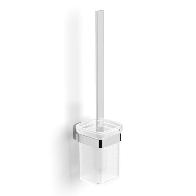 TEO ершик туалетный, матовое стекло, крепление к стене, хром - 1