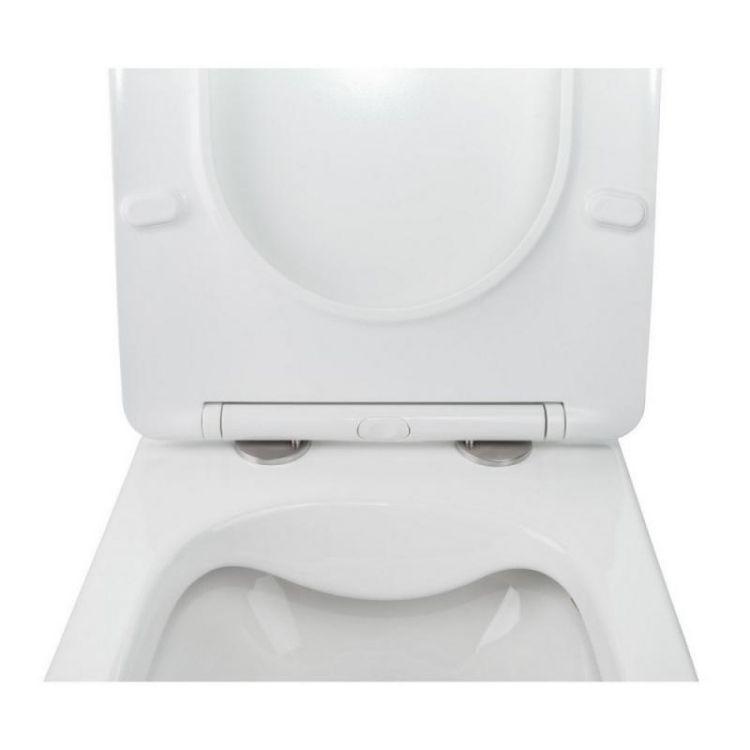 Комплект інсталяція Grohe Rapid SL 38721001 + унітаз з сидінням Qtap Jay QT07335176W + набір для гігієнічного душу зі змішувачем Grohe BauClassic 2904800S - 6