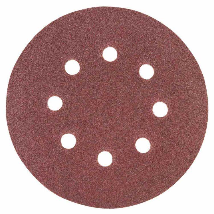 Шлифовальный круг 8 отверстий Ø125мм P120 (10шт) Sigma (9122671) - 1