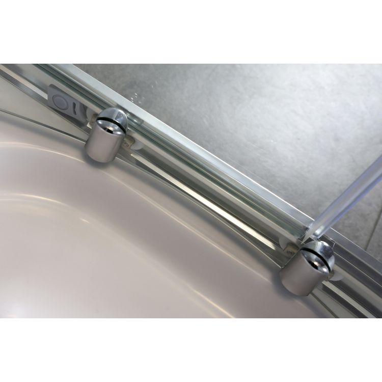 FIESTA душова кабіна 90*90*200 см на дрібному піддоні, профіль хром, прозоре скло - 7
