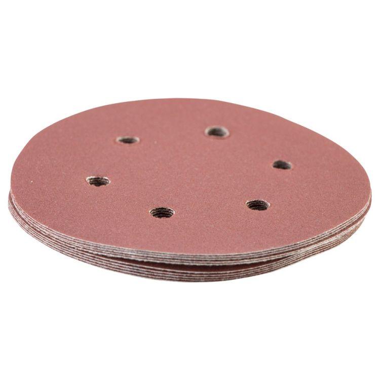 Шлифовальный круг 6 отверстий Ø150мм P180 (10шт) Sigma (9122291) - 3
