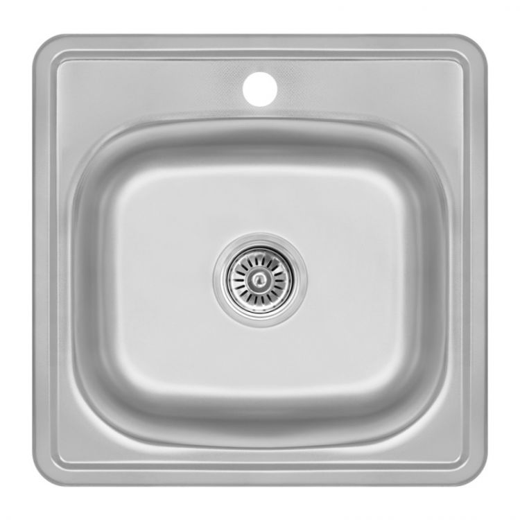 Кухонна мийка Lidz 4848 Decor 0,6 мм (LIDZ4848DEC06) - 1