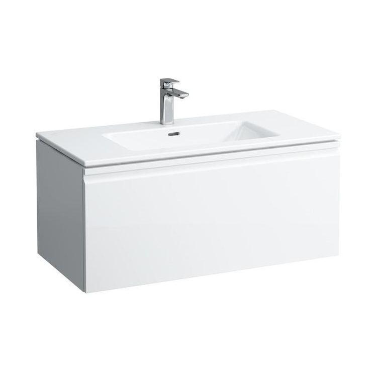 PRO S комплект тумба+умывальник 100*50см (8179670001041+4835310964641), цвет белый глянец - 1