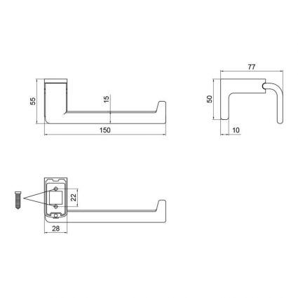 Тримач для туалетного паперу Lidz (CRM) 123.03.03 - 2