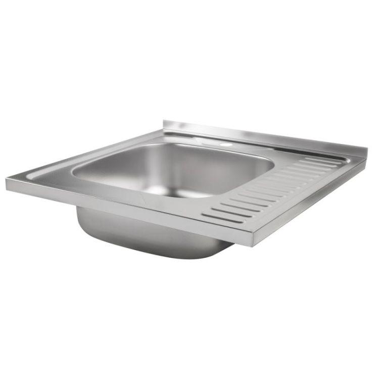 Кухонна мийка Lidz 6060-L Decor 0,8 мм (LIDZ6060LDEC08) - 4