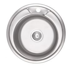Кухонна мийка Lidz 490-A dekor 0,6 мм (LIDZ490AMDEC06)