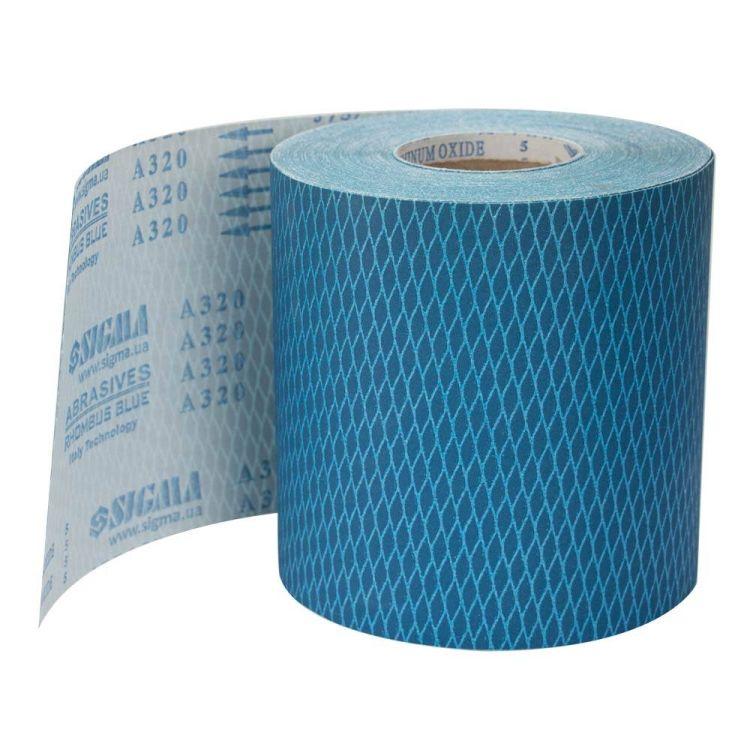 Шлифовальная шкурка (ромб) тканевая рулон 200ммх50м P320 Sigma (9111331) - 1