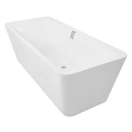 Ванна окремо стоїть 1800*800*620мм, акрилова, злив-перелив, біла - 5