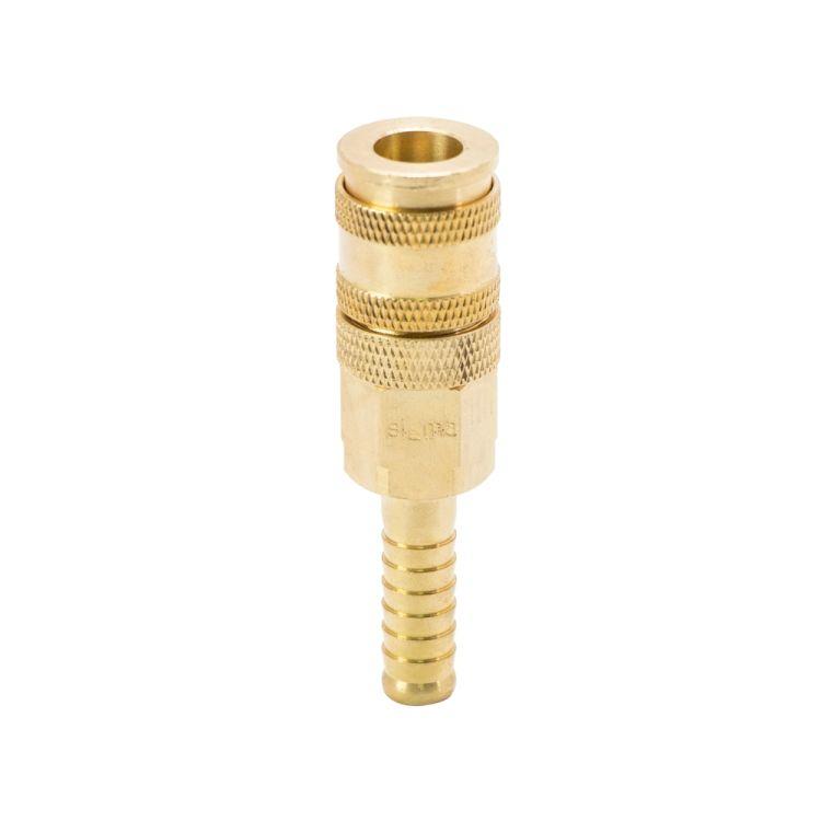 Соединение быстросъемное усиленное с фиксатором для шланга 10мм (латунь) Sigma (7021691) - 1