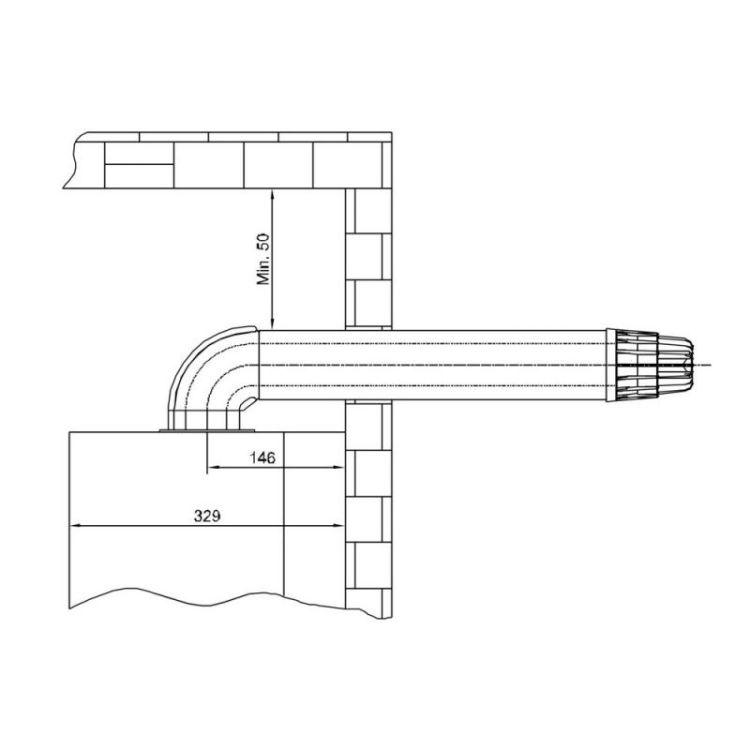 Комплект для коаксіального димохода Airfel 1000мм, 60/100 (Standart) - 2
