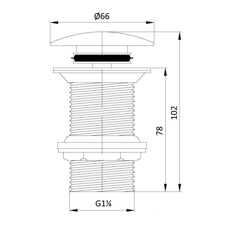 GRAFIKY клапан донный Pop-up (без перелива) - 2